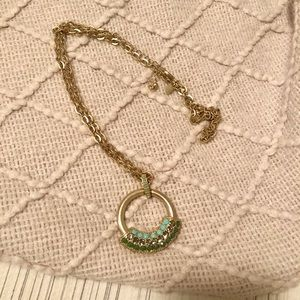 Gold and teal necklace 💫